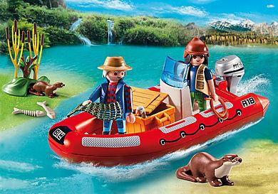 5559 Schlauchboot mit Wilderern