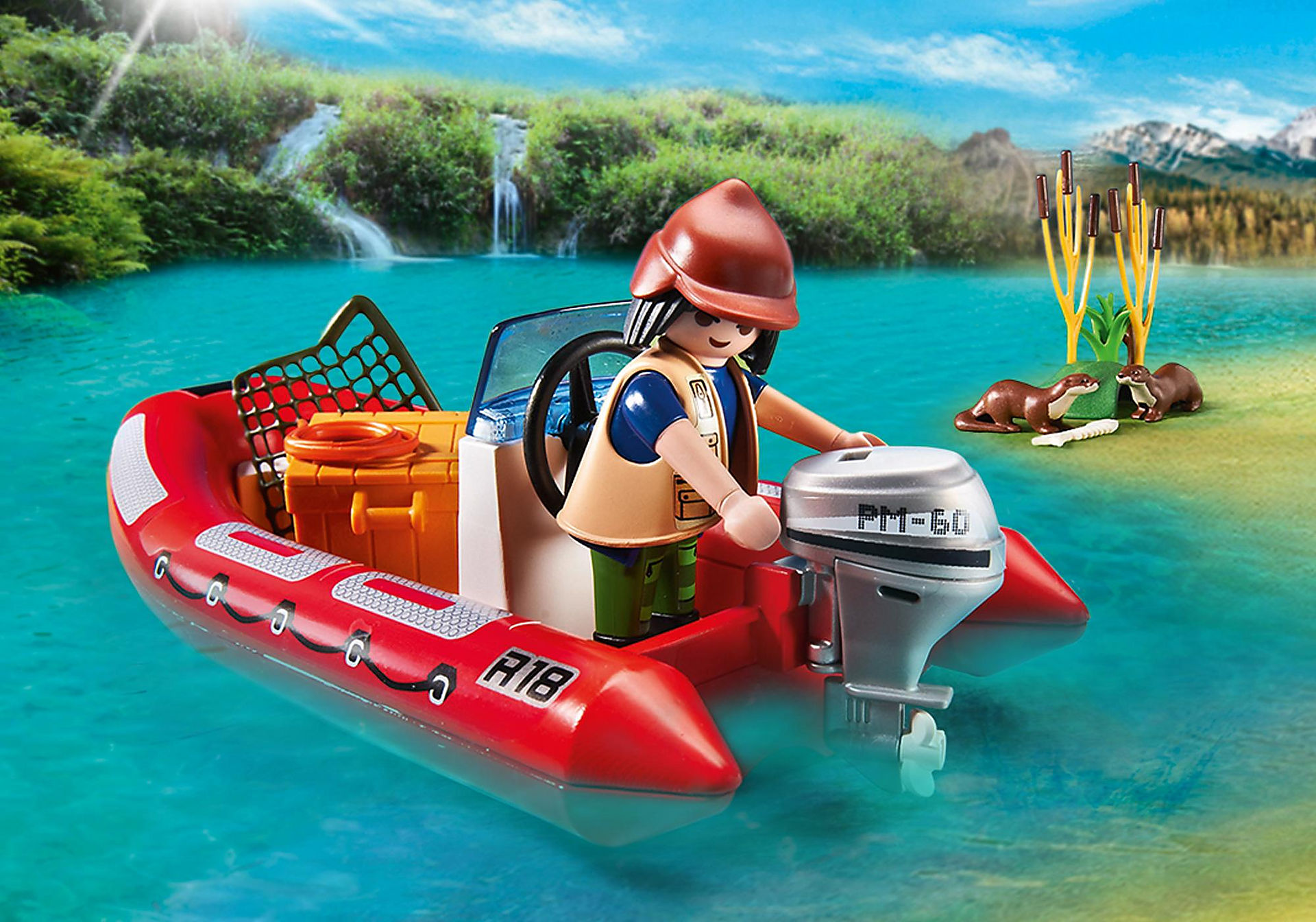 http://media.playmobil.com/i/playmobil/5559_product_extra2/Inflatable Boat with Explorers