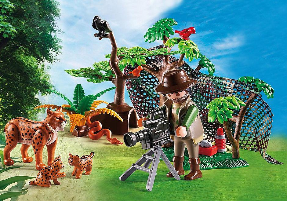 http://media.playmobil.com/i/playmobil/5561_product_detail/Familia de Linces con Cámara