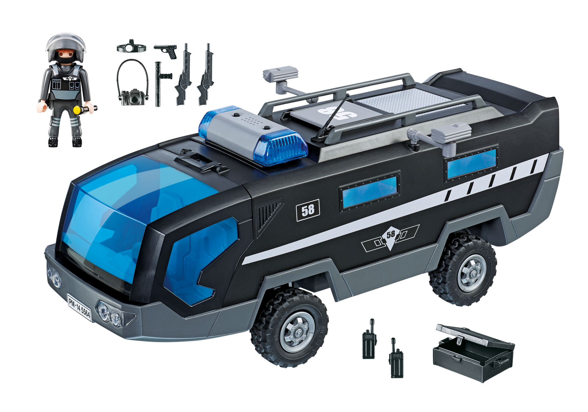 V hicule d 39 intervention des forces sp ciales 5564 playmobil france - Playmobil camion police ...