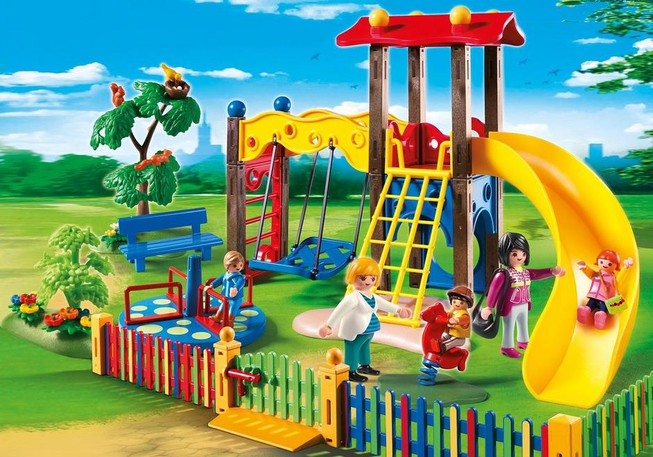 square pour enfants avec jeux 5568 playmobil france. Black Bedroom Furniture Sets. Home Design Ideas