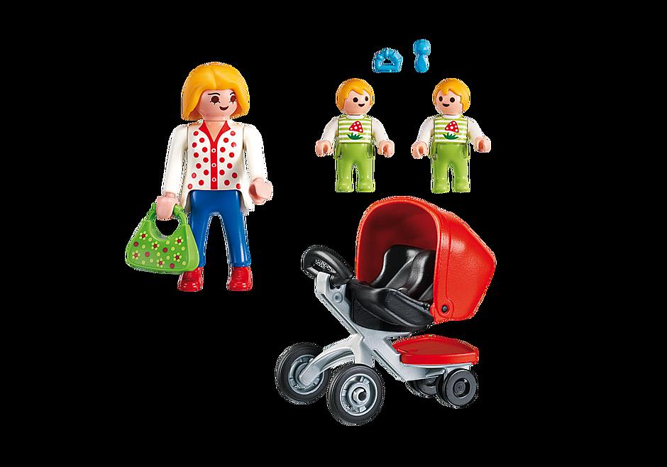 5573 Maman avec jumeaux et landau detail image 3