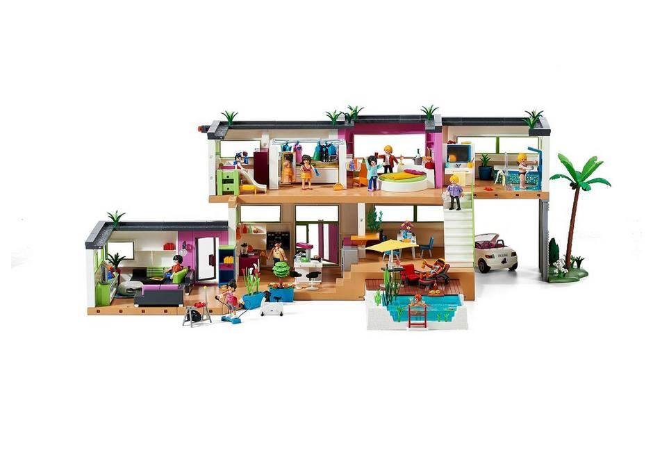 Stunning salon villa moderne play mobil photos for Playmobil maison moderne cuisine