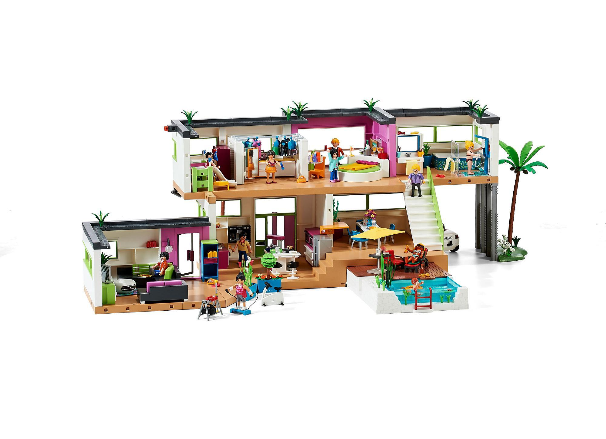 Best salon villa moderne play mobil images amazing house for Wohnzimmer playmobil