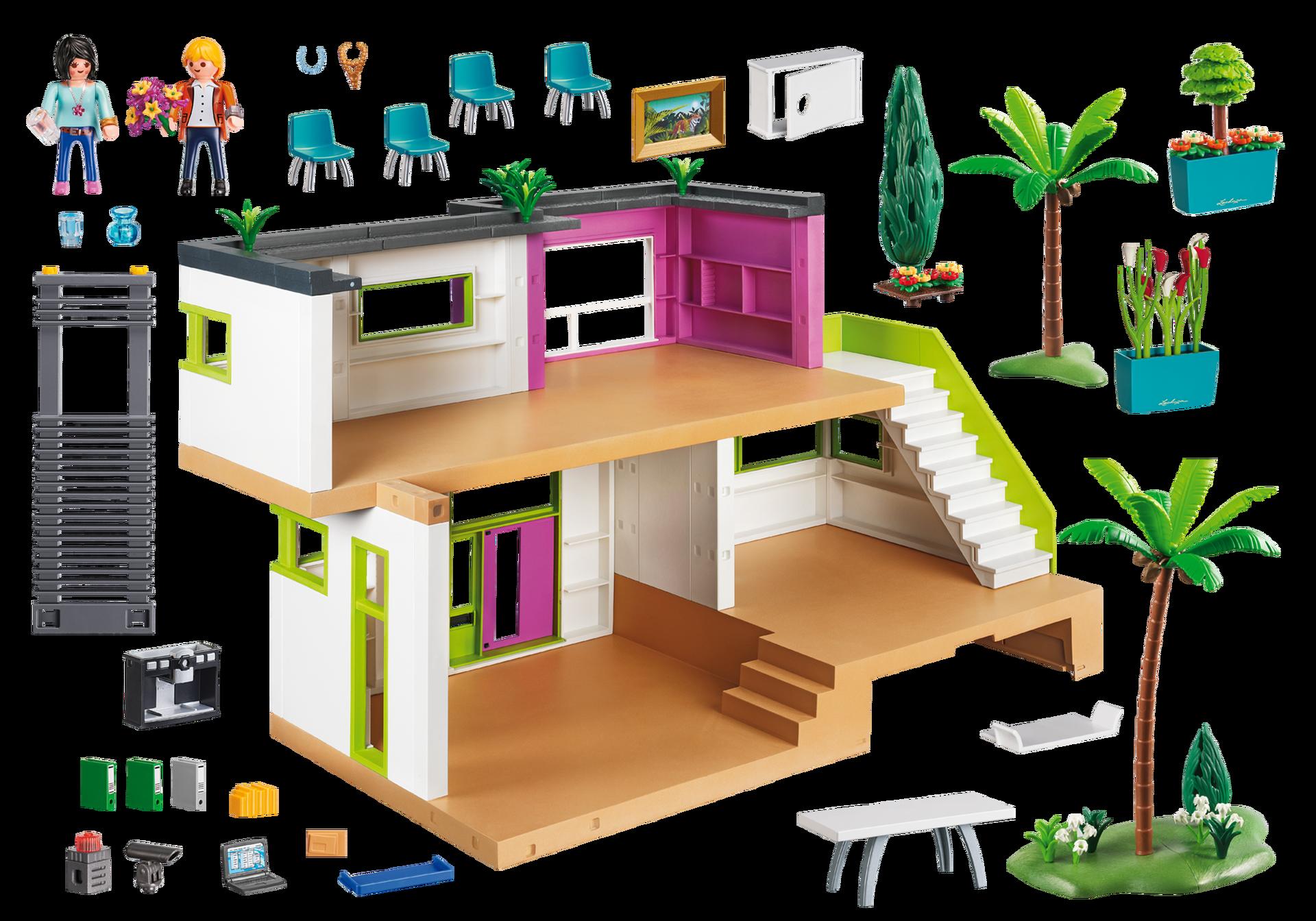 moderne luxusvilla 5574 playmobil schweiz. Black Bedroom Furniture Sets. Home Design Ideas