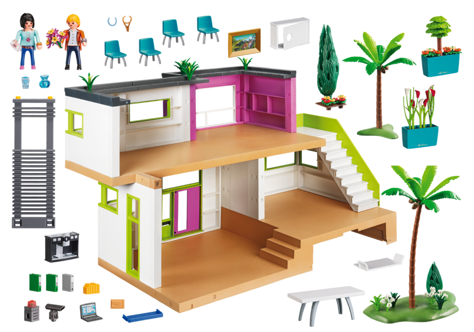 Modern luxury mansion 5574 playmobil united kingdom for Playmobil dining room 5335