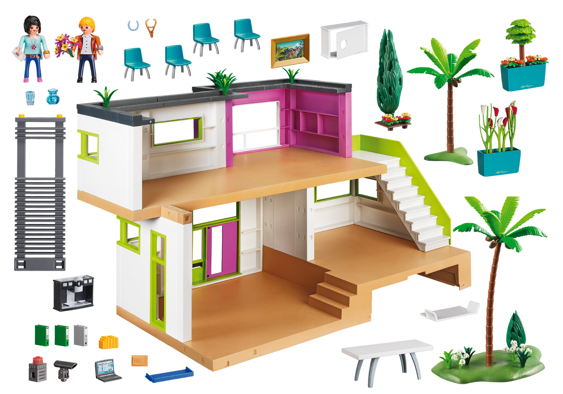 Maison moderne 5574 playmobil france for Accessoire maison