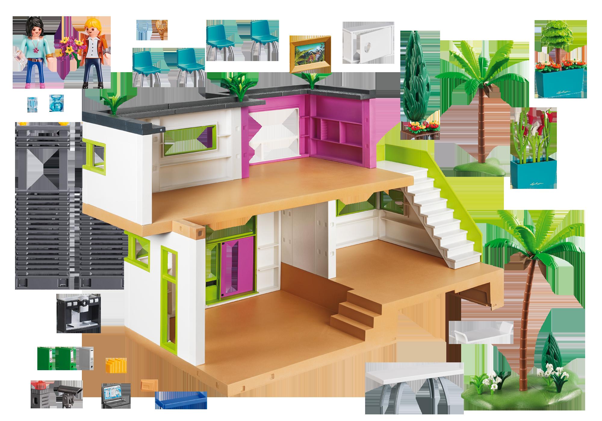 Http://media.playmobil.com/i/playmobil/5574_product_box_back Maison Moderne  ...