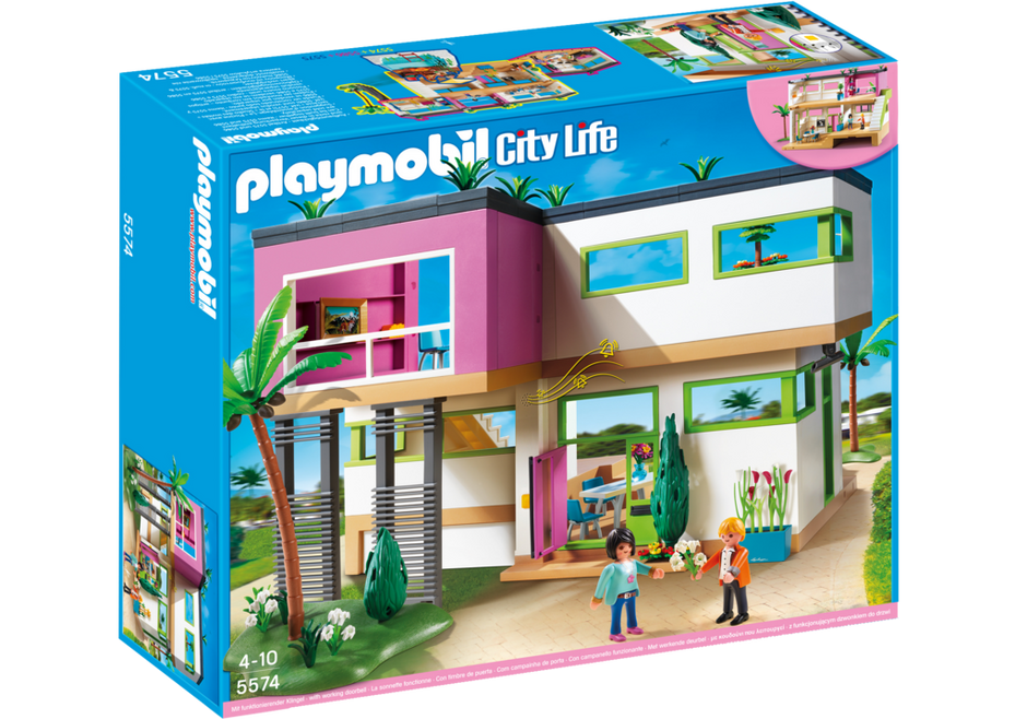 Maison moderne 5574 playmobil france for Salle a manger playmobil city life
