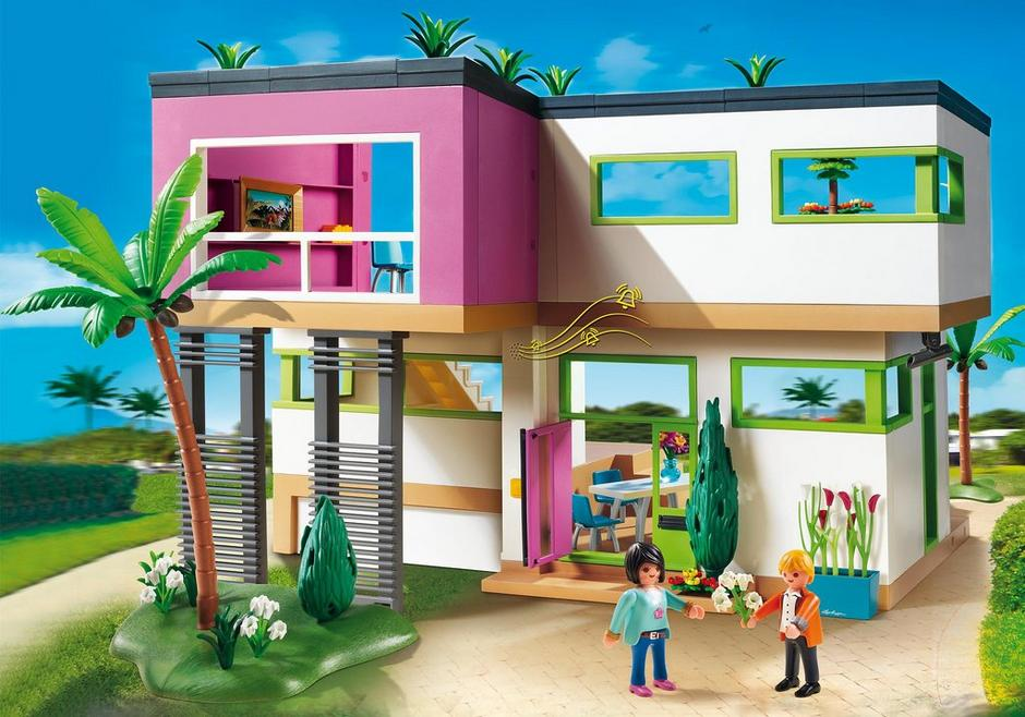 Maison moderne 5574 playmobil france for La maison contemporaine meubles