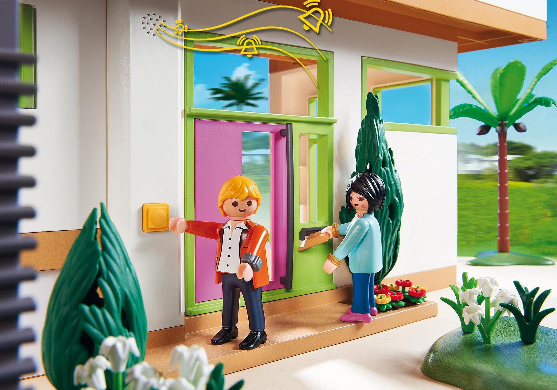 Maison moderne 5574 playmobil france for Mansion de playmobil