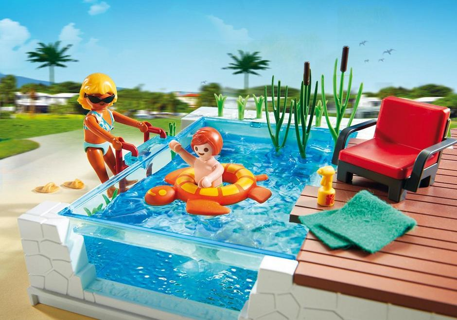 Piscine avec terrasse 5575 playmobil france for Piscine de playmobil