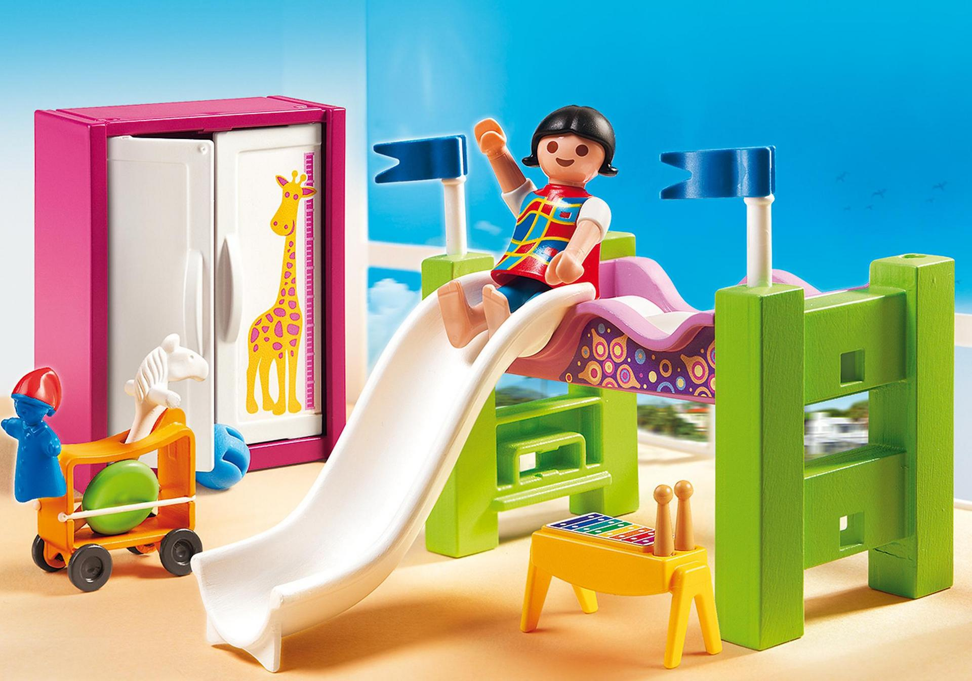 chambre d enfant avec lit mezzanine 5579 playmobil france. Black Bedroom Furniture Sets. Home Design Ideas