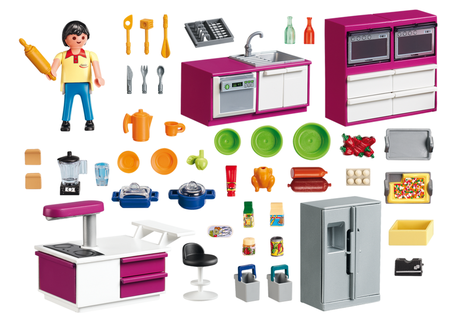 cuisine avec lot 5582 playmobil france. Black Bedroom Furniture Sets. Home Design Ideas
