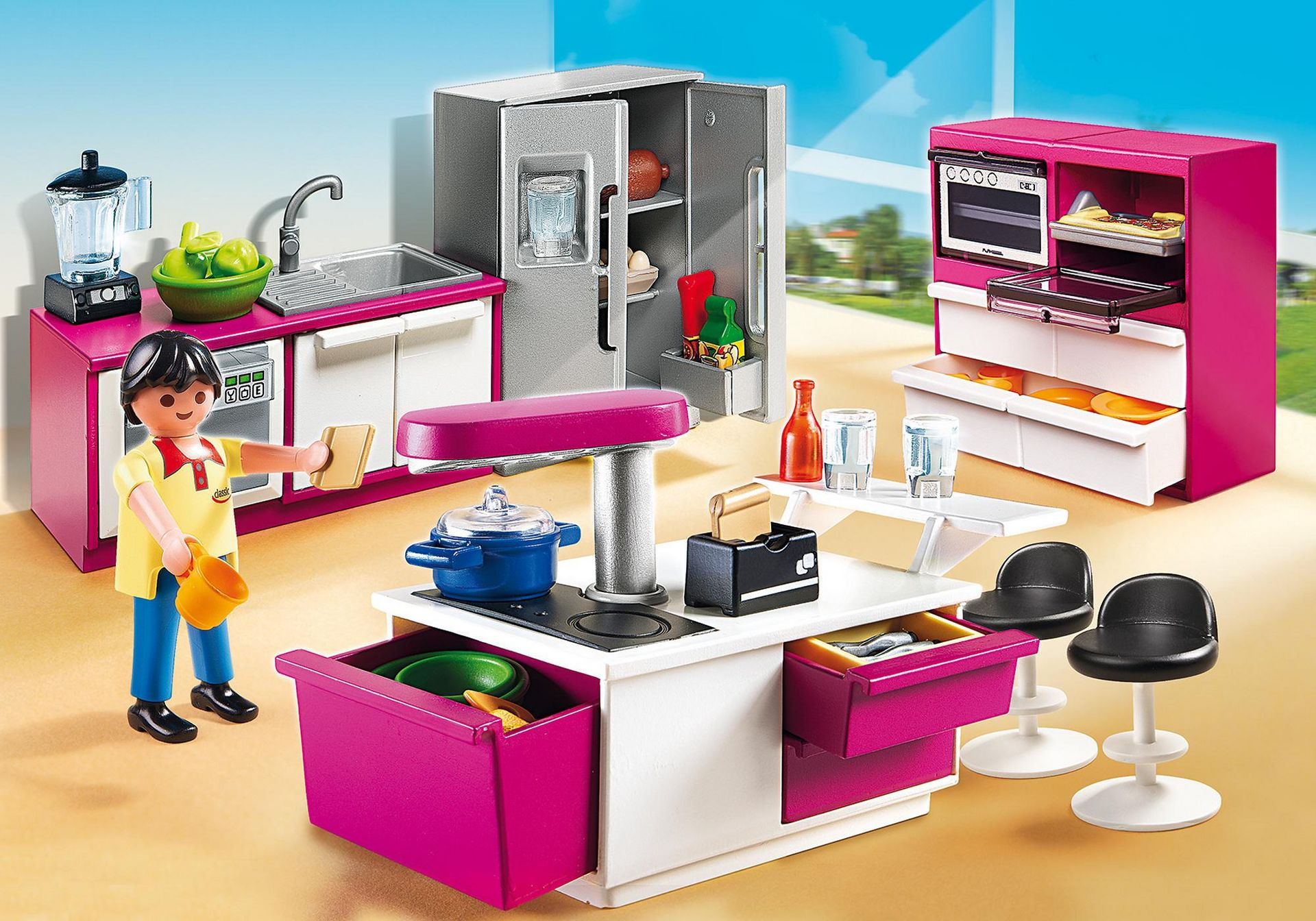 Sink Dishwasher Cooker Cupboards /& more Modern House Playmobil Kitchen Units