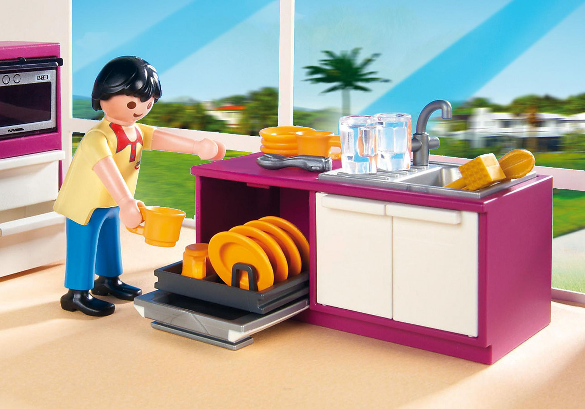 http://media.playmobil.com/i/playmobil/5582_product_extra2/Modern Designer Kitchen