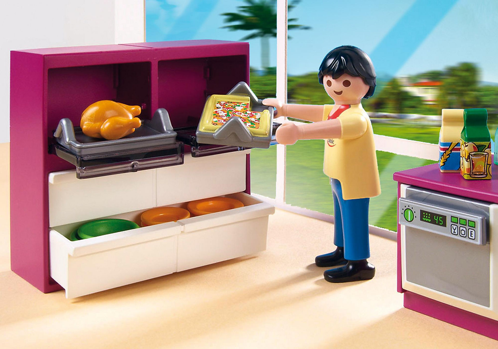 http://media.playmobil.com/i/playmobil/5582_product_extra3/Modern Designer Kitchen