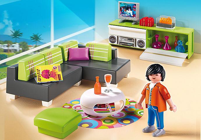 5584 Salone con mobili di design