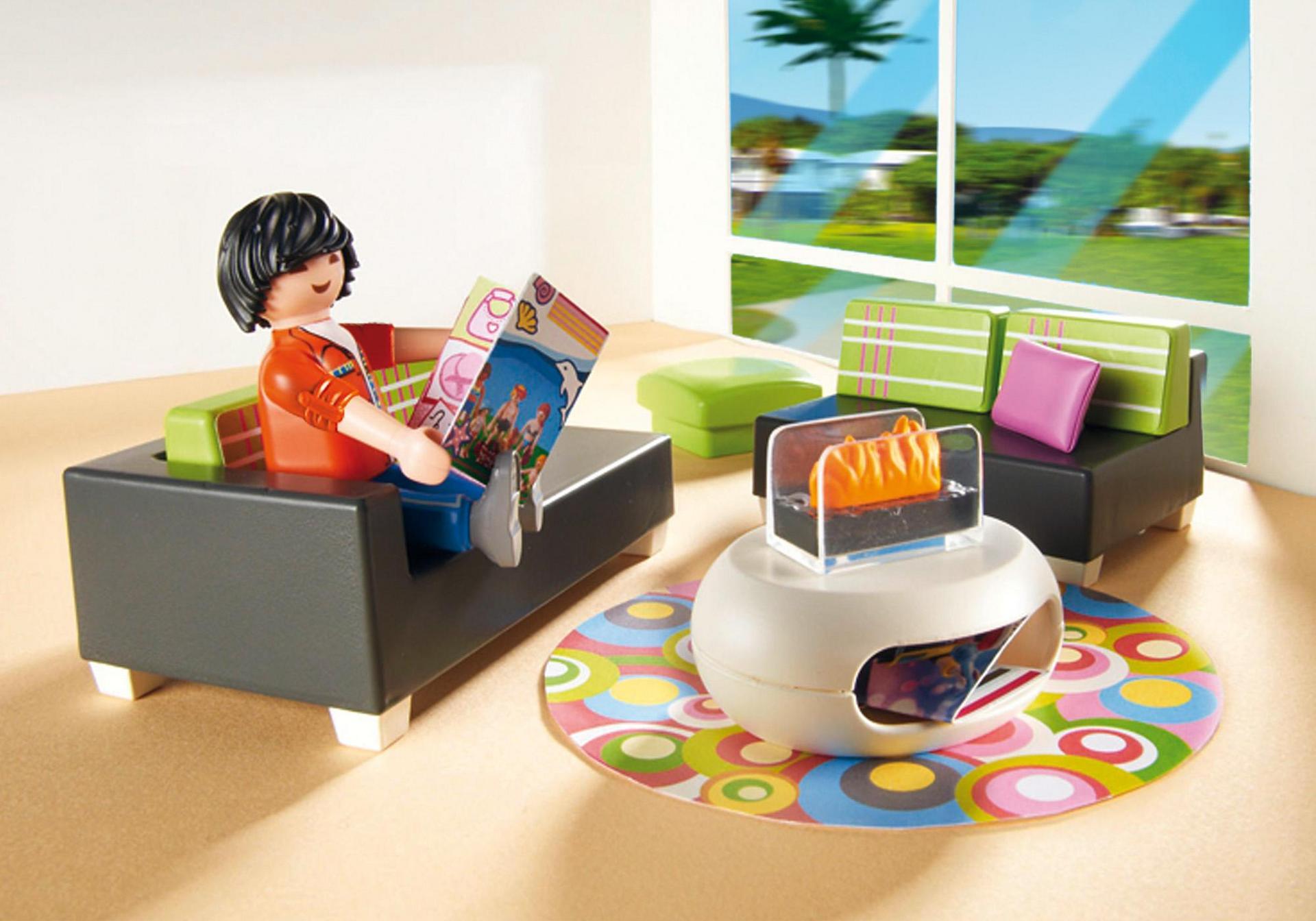 Salon moderne 5584 playmobil france for Salon playmobil