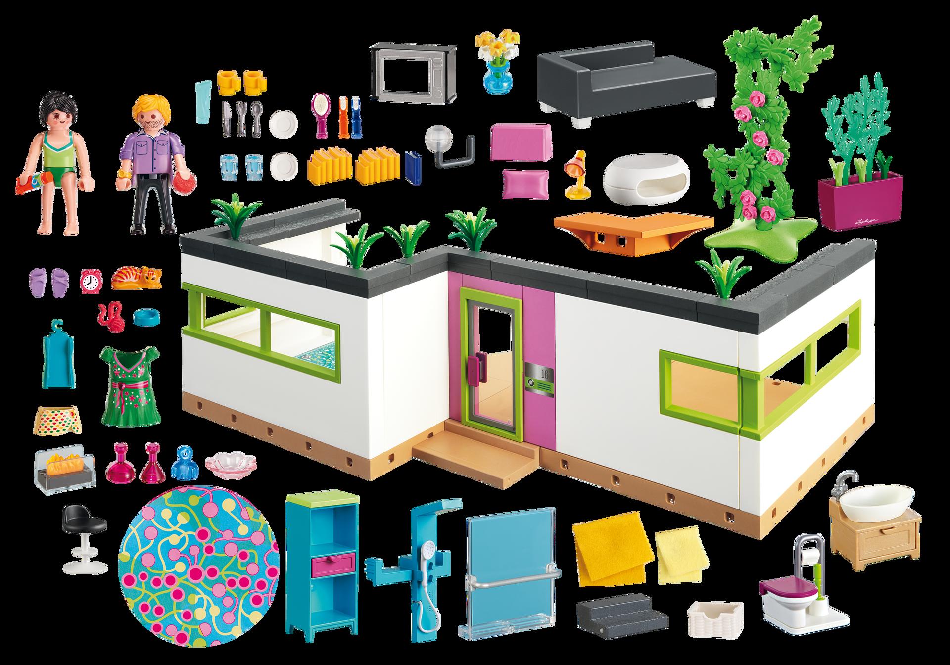 Studio des invit s 5586 playmobil france for Maison moderne playmobil 2018
