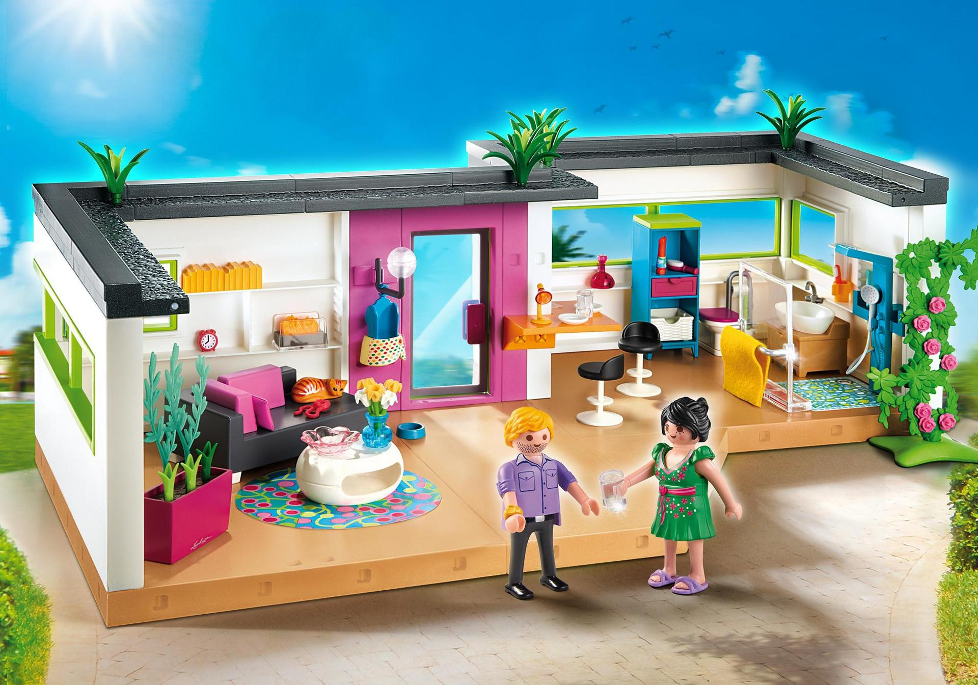 Studio des invit s 5586 playmobil france for Agrandissement maison moderne playmobil