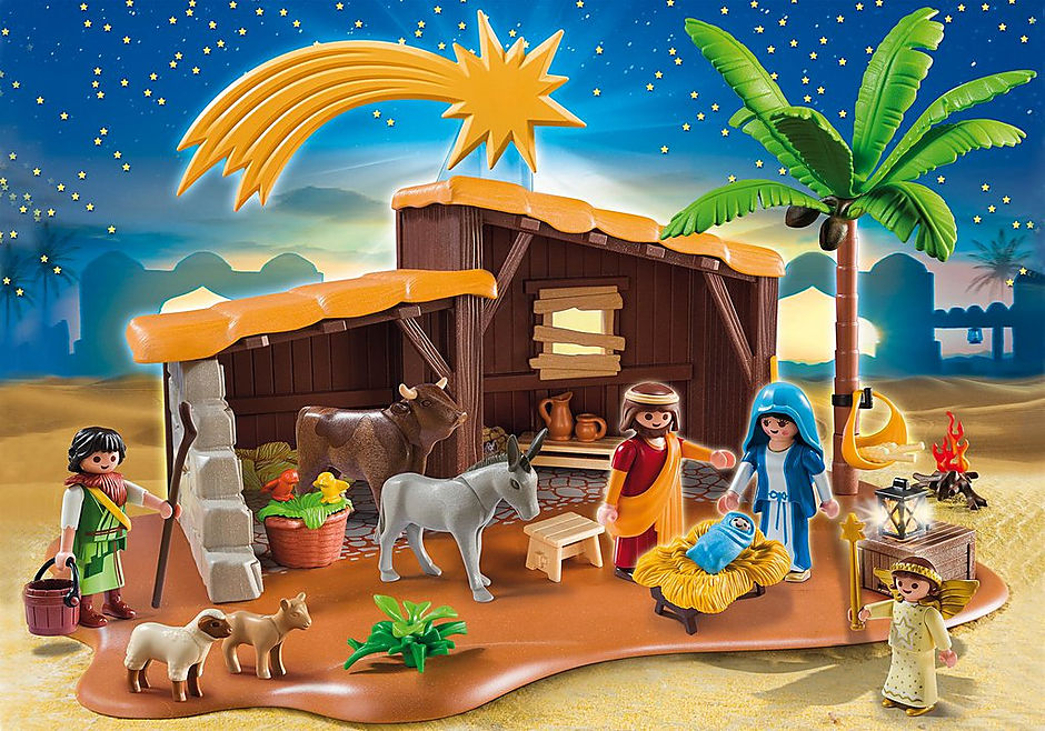 5588 Nativity Stable with Manger detail image 1