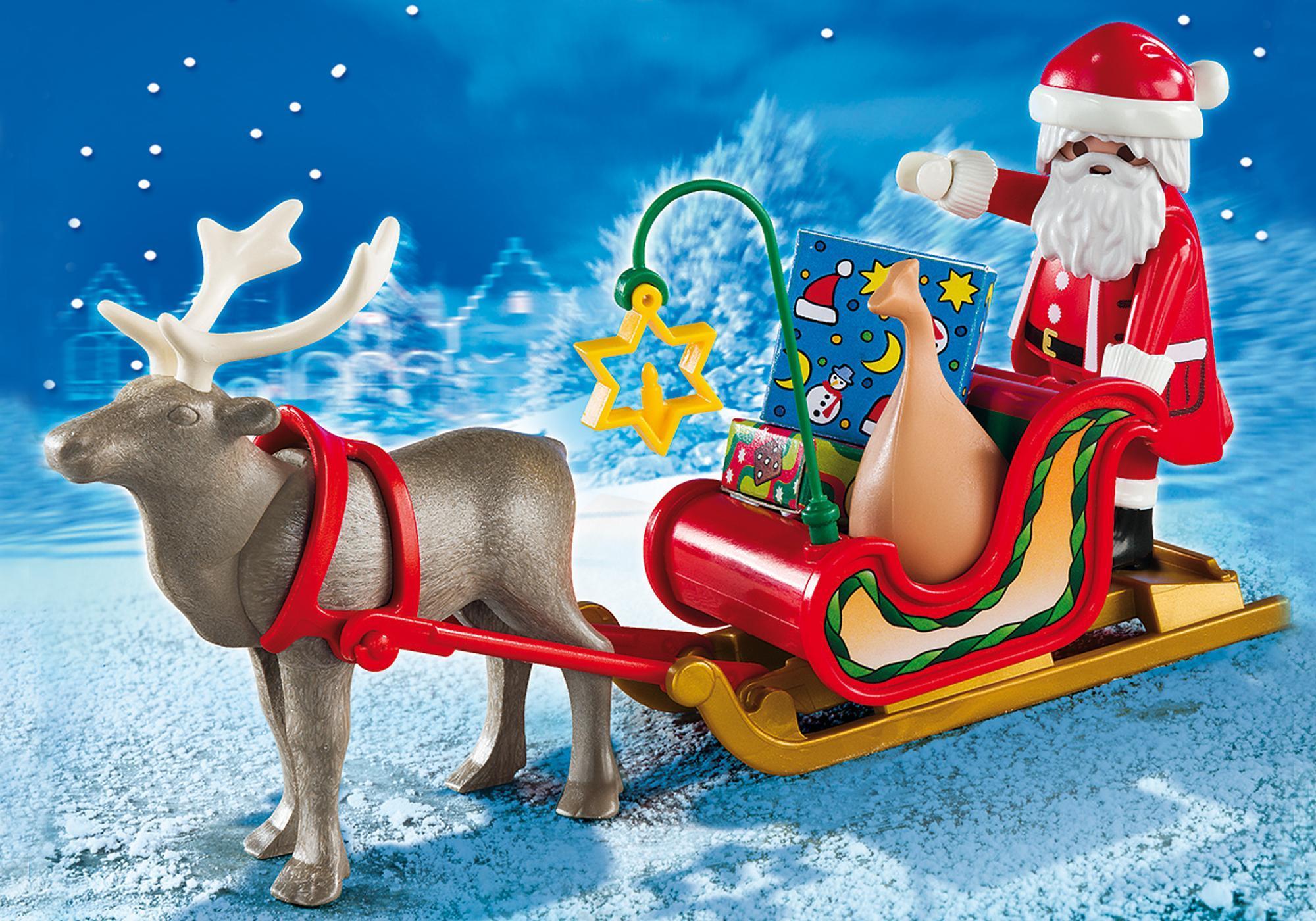 santa s sleigh with reindeer 5590 playmobil united kingdom