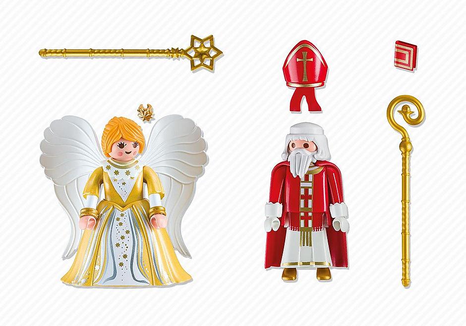 5592 St. Nicholas and Christmas Angel detail image 3
