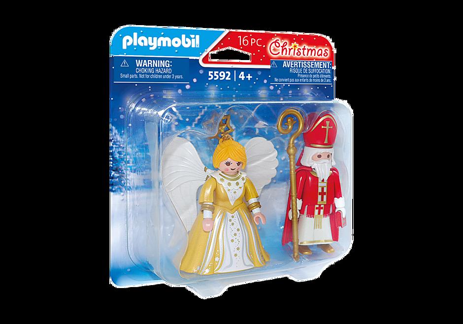 5592 St. Nicholas and Christmas Angel detail image 2