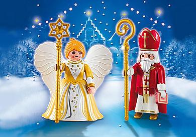5592 St. Nicholas and Christmas Angel