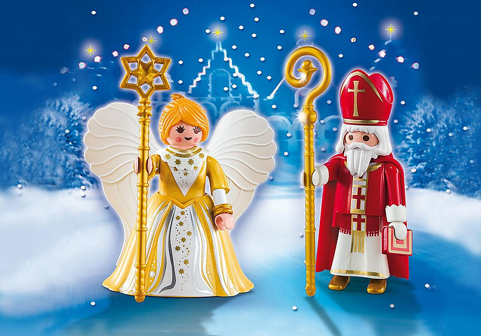 5592 St. Nicholas and Christmas Angel detail image 1