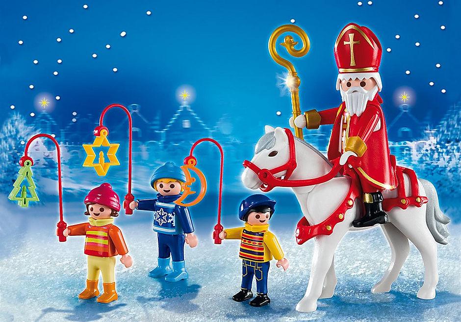5593 Św. Mikołaj i dzieci z latarniami detail image 1