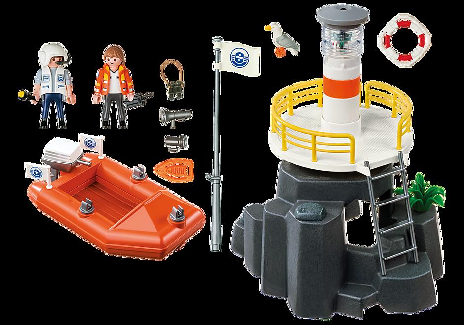 5626 Leuchtturm mit Rettungsboot detail image 3