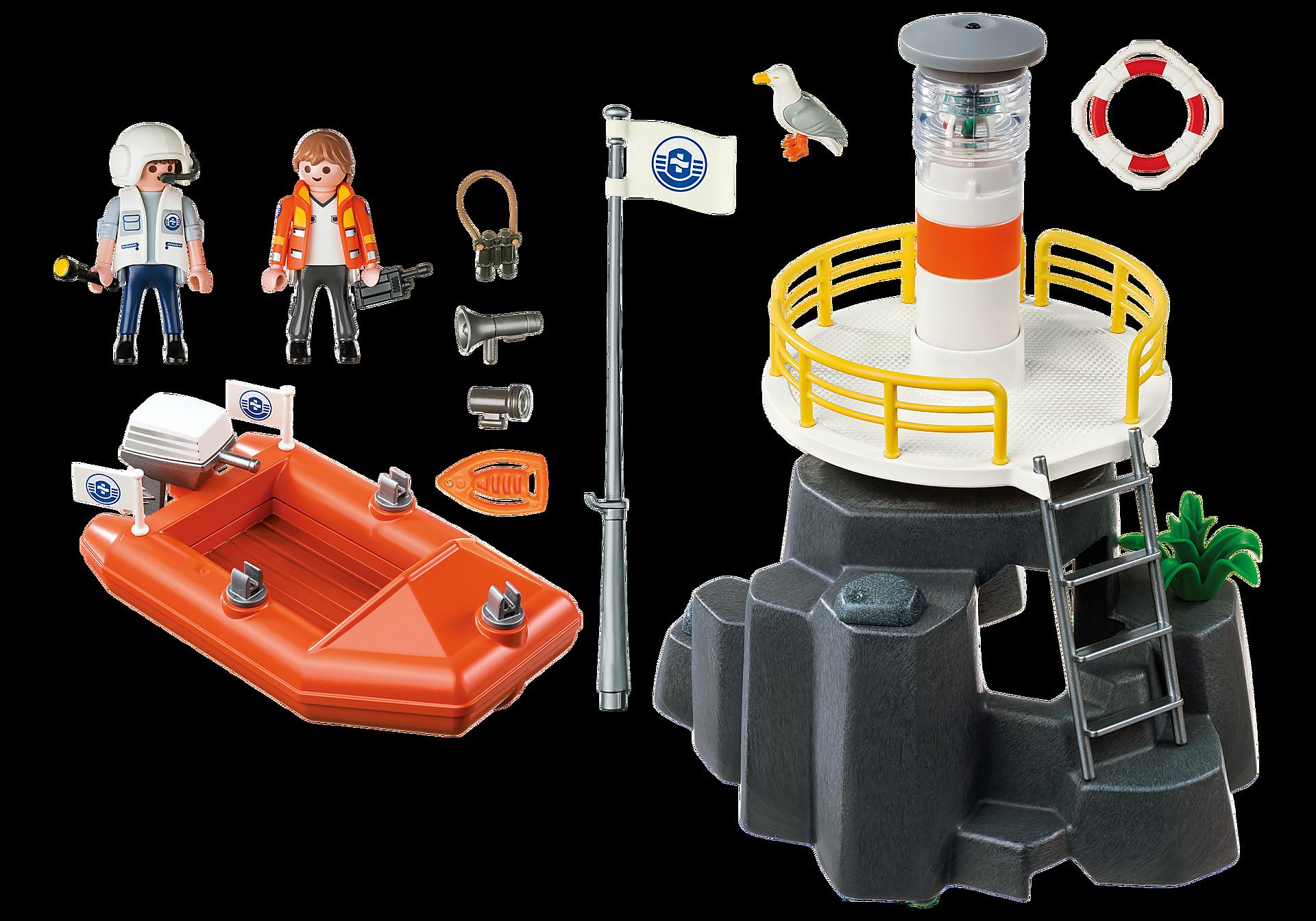 5626 Leuchtturm mit Rettungsboot zoom image3