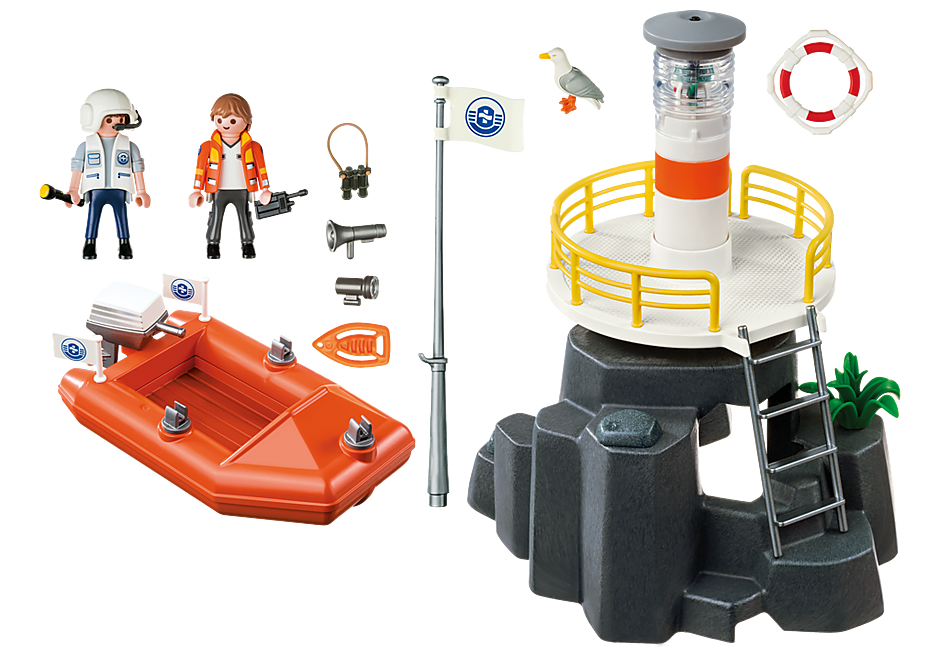 5626 Lighthouse with Lifeboat detail image 3