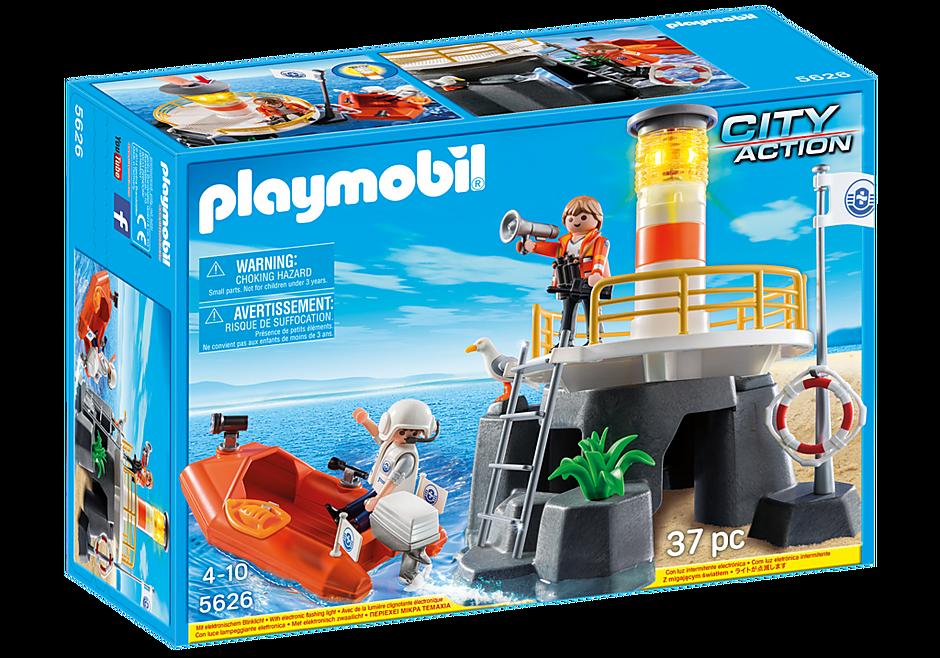 http://media.playmobil.com/i/playmobil/5626_product_box_front/ Vuurtoren met reddingsboot