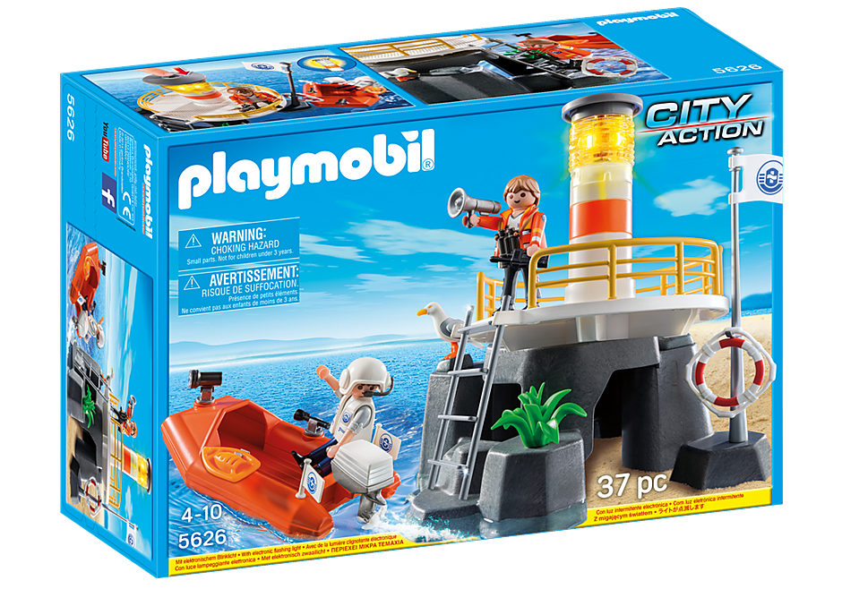 http://media.playmobil.com/i/playmobil/5626_product_box_front/ Vuurtoren met reddingsboot