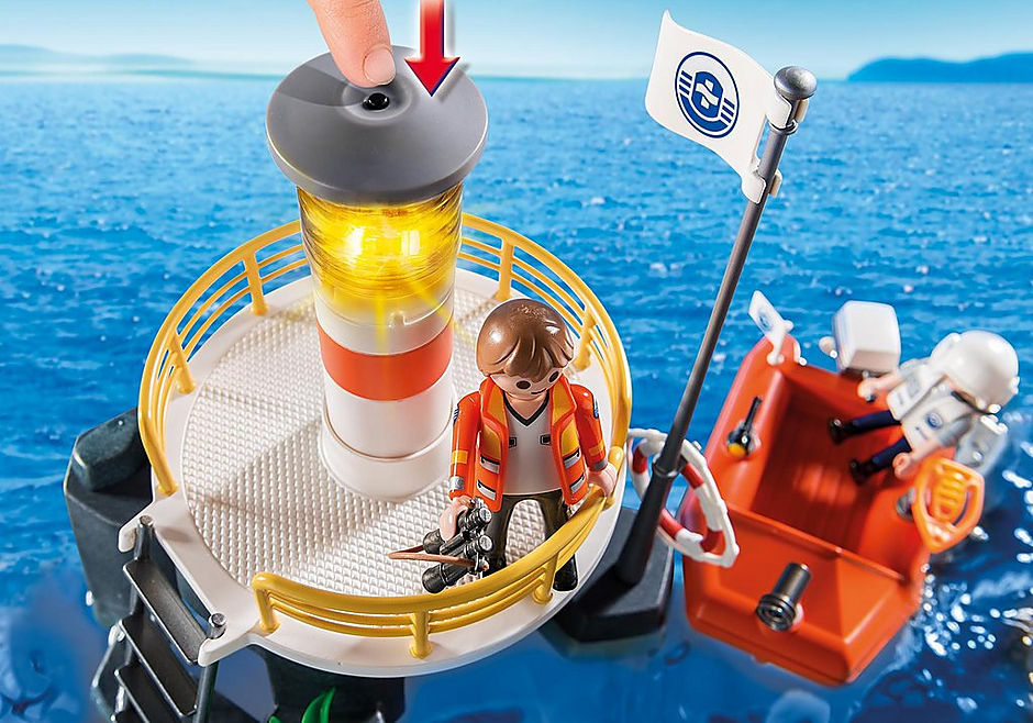 5626 Phare avec bateau de secours  detail image 5