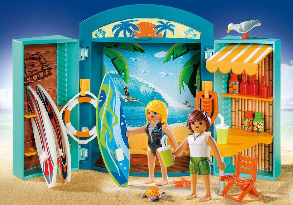 Aufklapp spiel box surf shop 5641 playmobil deutschland for Playmobil 5433 famille avec piscine et plongeoir