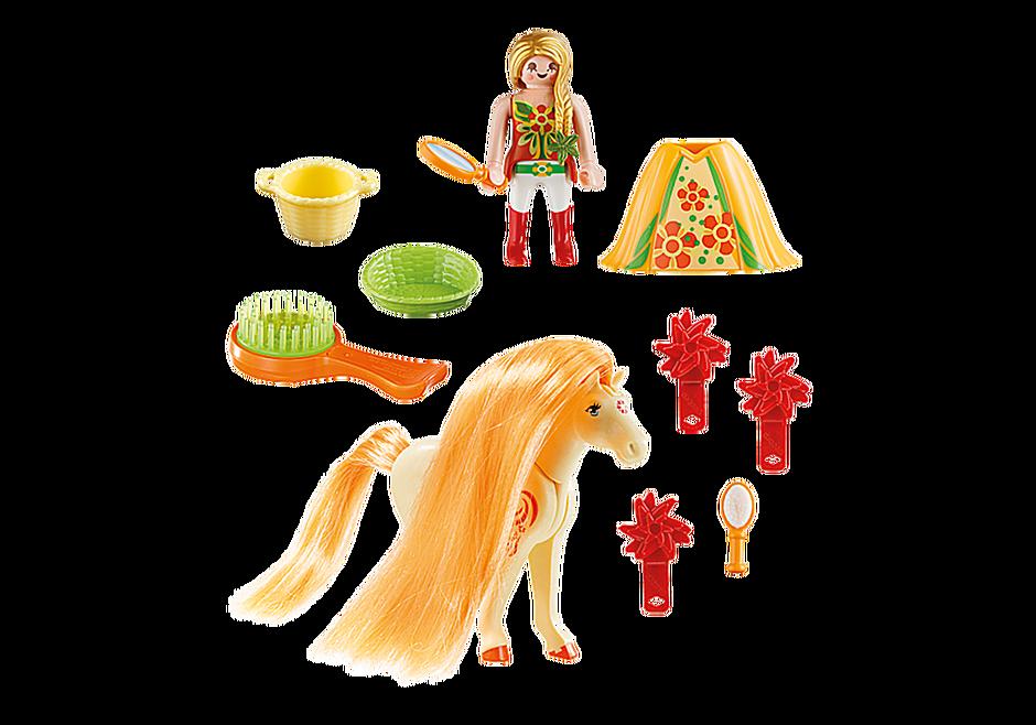 http://media.playmobil.com/i/playmobil/5656_product_box_back/Maxi Βαλιτσάκι Πριγκίπισσα με άλογο