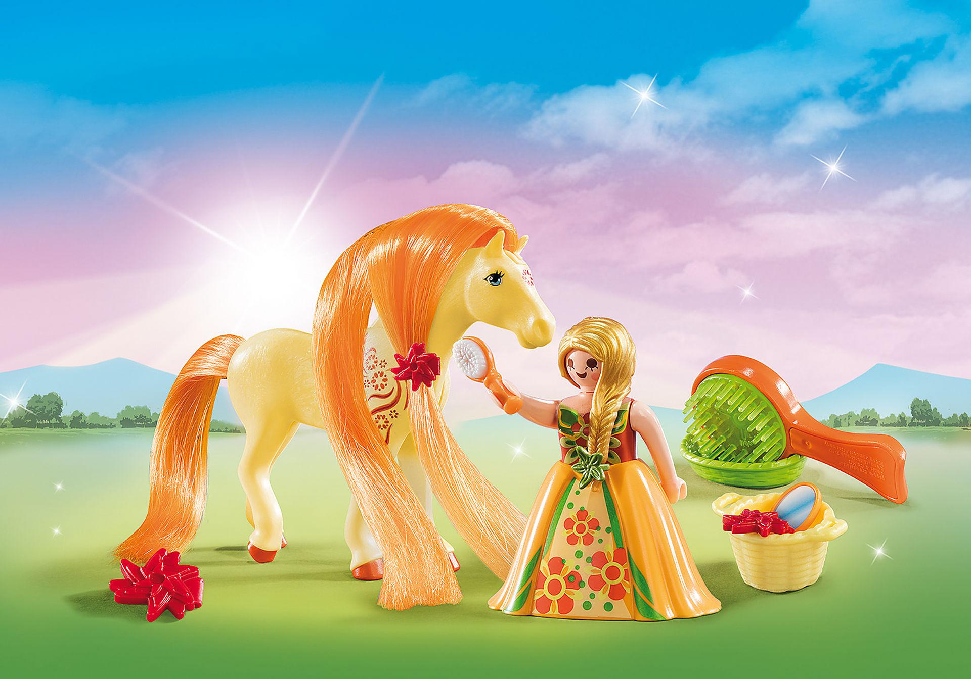 http://media.playmobil.com/i/playmobil/5656_product_detail/Maxi Βαλιτσάκι Πριγκίπισσα με άλογο