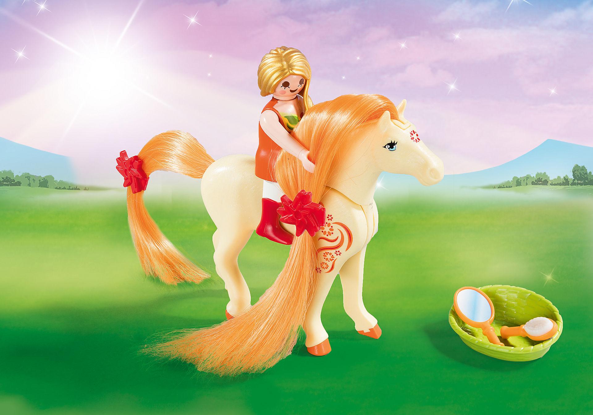 http://media.playmobil.com/i/playmobil/5656_product_extra2/Maxi Βαλιτσάκι Πριγκίπισσα με άλογο