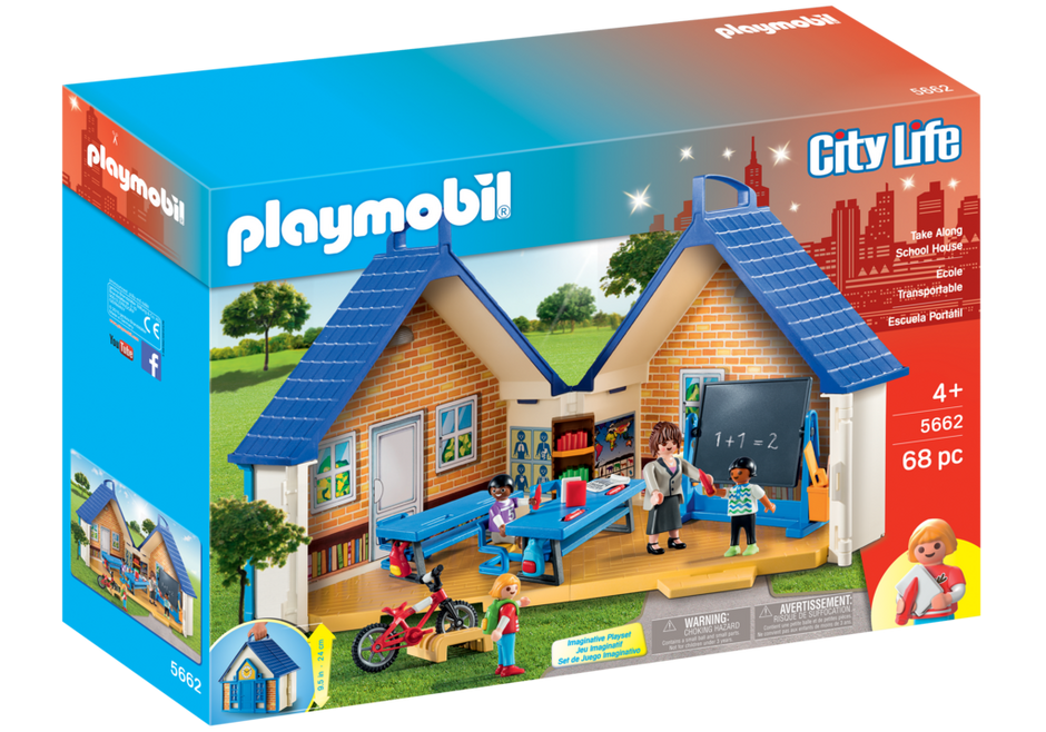 Take along school house 5662 playmobil usa for Salle a manger playmobil city life