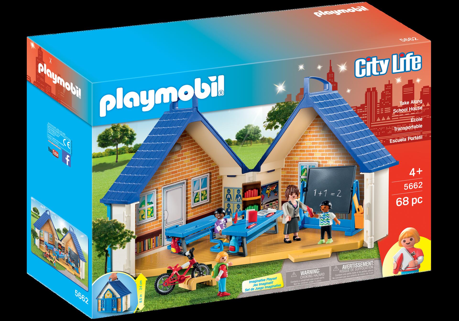 Take along school house 5662 playmobil usa for Hospital de playmobil