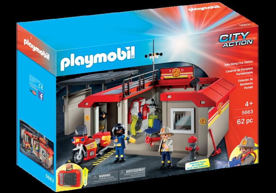 Take Along Fire Station 5663 Playmobil 174 Usa