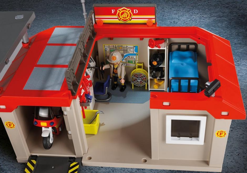 take along fire station 5663 playmobil usa. Black Bedroom Furniture Sets. Home Design Ideas