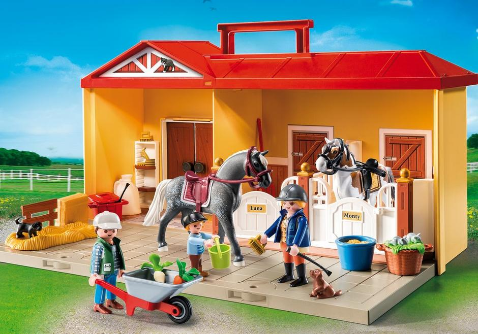 take along horse stable 5671 playmobil usa. Black Bedroom Furniture Sets. Home Design Ideas