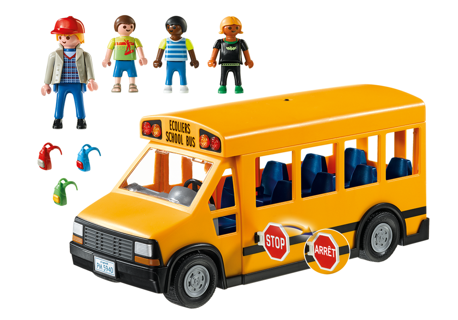 School Bus 5680 Playmobil Usa Princess Phone Wiring Diagram Http Mediaplaymobilcom I Product Box Back