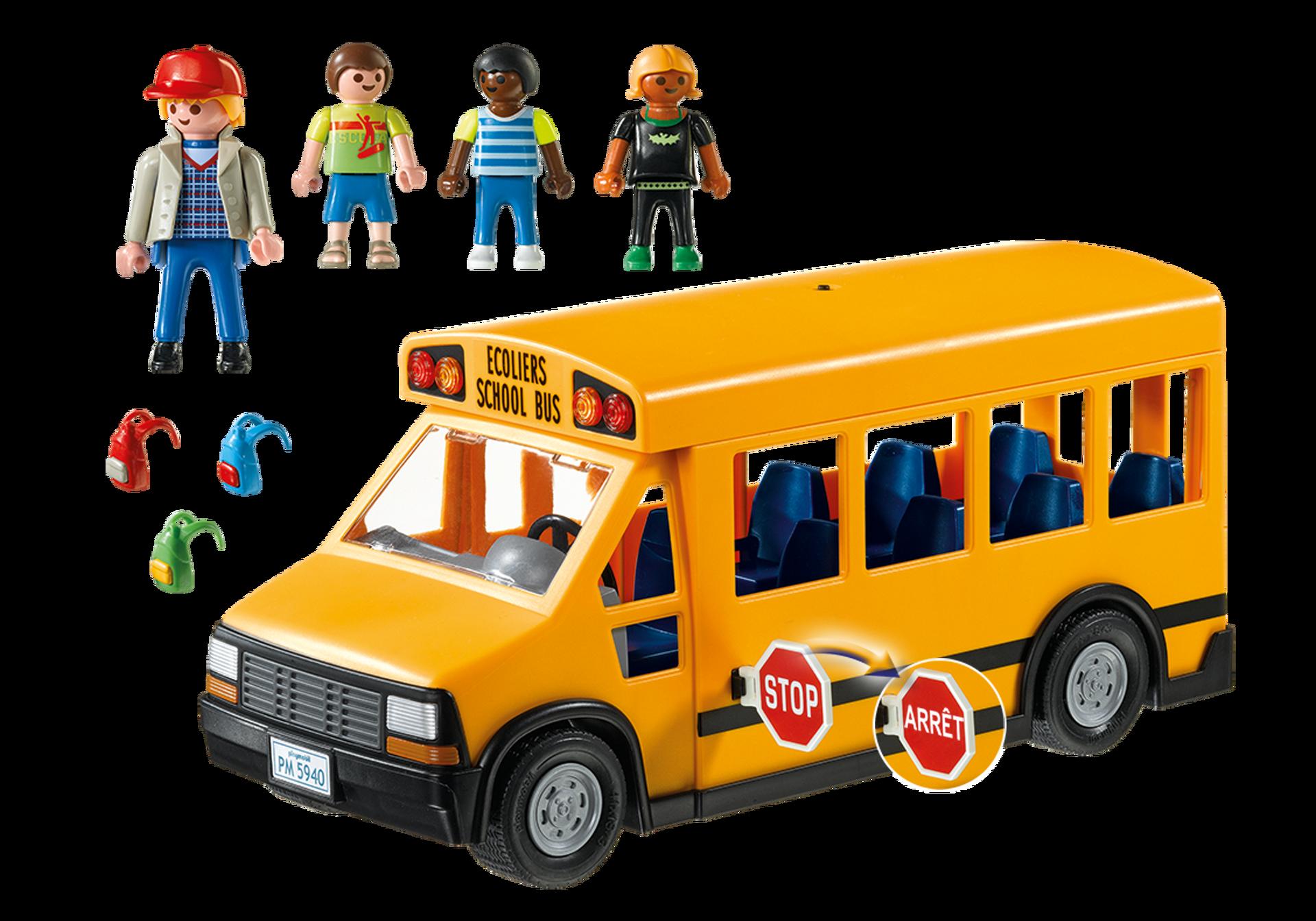 school bus 5680 playmobil canada. Black Bedroom Furniture Sets. Home Design Ideas