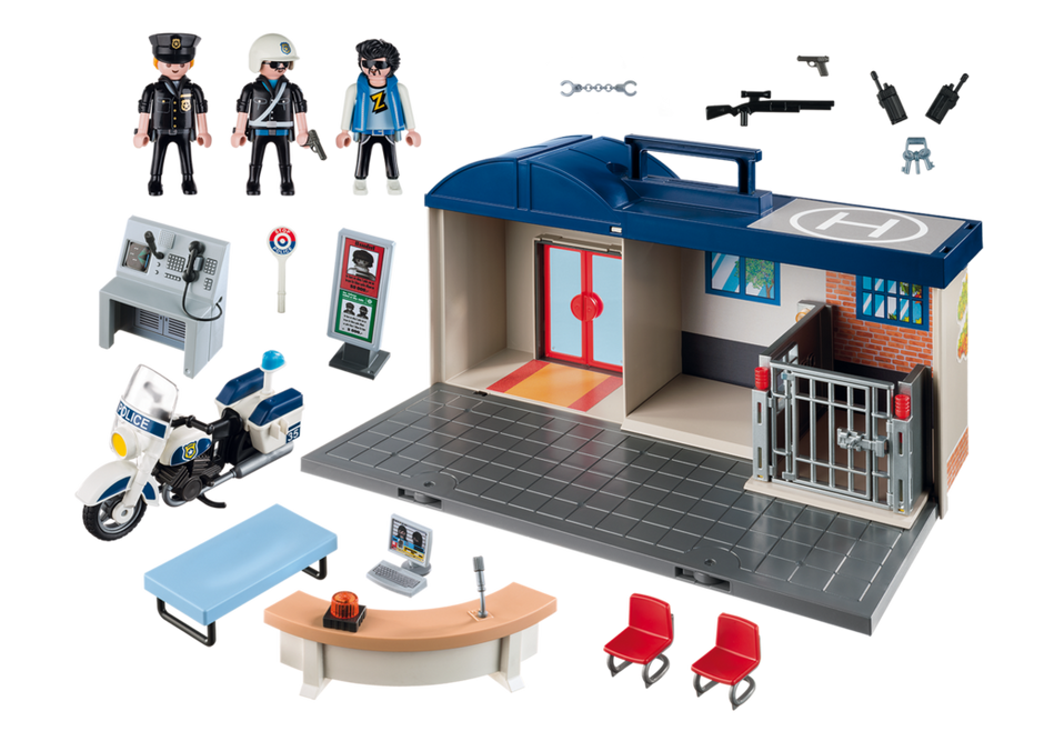 Take Along Police Station 5689 Playmobil Usa